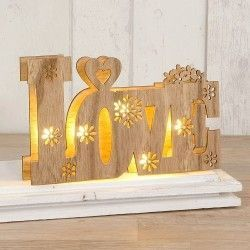 Madera Love con luces led